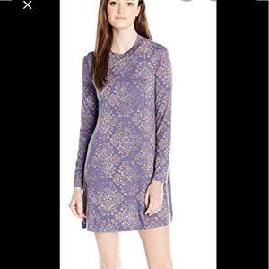 O'Neill Purple Josie long sleeve Dress high neck M